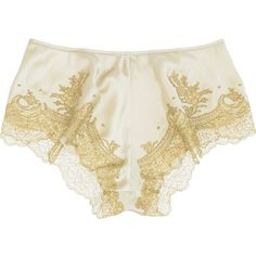Antique silver hand-stitched silk and Chantilly lace shorts. Carine Gilson shorts have an elasticated waist band, gold lace on the hem and simply slip on. Lingerie Shorts, Lacy Lingerie, Pretty Lingerie, Lace Shorts, Lingerie Underwear, Vintage Underwear, Vintage Lingerie, Designer Lingerie, Beautiful Outfits