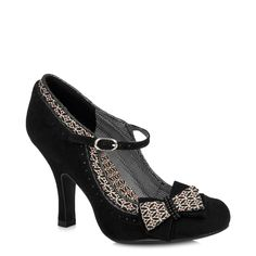 Ruby Shoo Black Strap Dolly Shoe