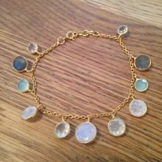 Multi gem charm bracelet