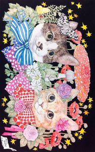 ヒグチユウコ Yuko Higuchi Art And Illustration, Vampire Illustration, Illustrations Posters, C Is For Cat, Japanese Artwork, Gatos Cats, Cat Character, Fairytale Art, Cat Wallpaper