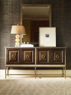 Century Furniture - Outside: W: 75 in X D: 19 in X H: 38.25 in Bridgeton Credenza - 499-403