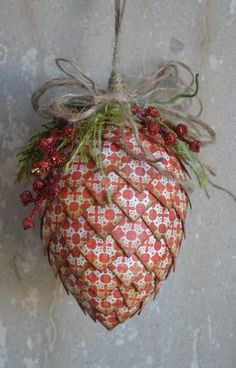 Pine Cone Christmas Ornament. Repinned by www.mygrowingtraditions.com