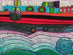 Hundertwasser, Rengentag of Waves of Love c1971