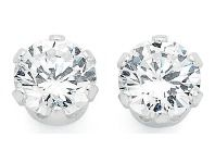 Turn heads with these elegant cubic zirconia stud earrings. Showcasing a round brilliant centrepiece stone and frame, claw set in sterling silver, these earrings are certain to be show stoppers. Cubic Zirconia Earrings, Diamond Earrings, Stud Earrings, Classic Style, Engagement Rings, Sterling Silver, Stone, Elegant, Batu