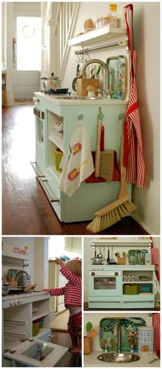 play kitchen from old furniture
