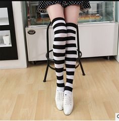 e7aefdb7f 2018 Colorful Sexy Striped Boots Compression Stockings Ladies Over Knee  Socks Long Women s Sock Body Thigh High Tube Socks Women