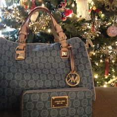 Michael kors purse and matching wallet! Merry Christmas thanks Santa ;)
