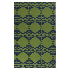 Stylishly anchor your living room or master suite with this hand-woven wool rug, showcasing an ogee-inspired motif in peridot.   Product...