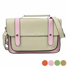 Women's Retro Faux Leather Crossbody Bag Handbag Messenger Tote Bag