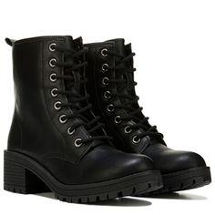 Madden Girl Eloisee Combat Boot Black