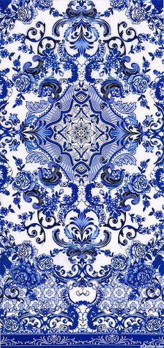 Blue & White - Porcelain Elegance - Quilt fabrics from Blue And White China, Blue China, Love Blue, Textures Patterns, Print Patterns, Blue Patterns, Ps Wallpaper, Foto Poster, White Decor
