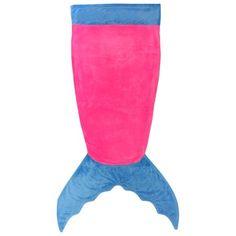 ***Wrapables® Plush Polar Fleece Mermaid Tail Blanket for Children, Purple