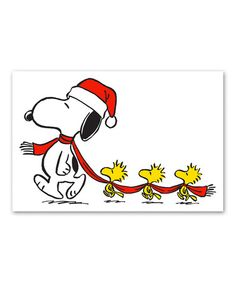 Snoopy & Woodstock Scarf Gallery-Wrapped Canvas #zulily #zulilyfinds