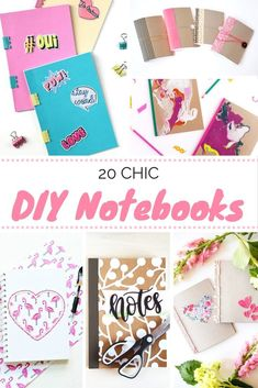Get organized and get stylish with these 20 ideas for DIY notebooks! How will you make your notebook pretty? These will inspire you! via @modpodgerocks