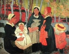 Bretonnes dans la forêt de Huelgoat, Finistère, 1893  • Paul Sérusier (1863-1927)