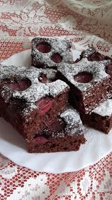 This no all / Disznóól - KonyhaMalacka disznóságai: Meggyes kakaós süti Sweets Recipes, Cake Recipes, Hungarian Recipes, Cakes And More, Food To Make, Deserts, Food And Drink, Snacks, Cooking
