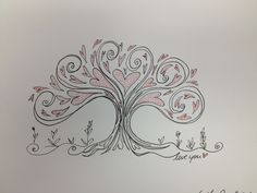 Heart tree doodle by Lucy