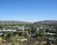 Alice Springs and the MacDonnell Ranges in the background....N.T.Australia