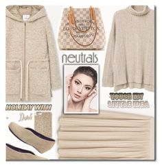 """""""COOL NEUTRAL"""" by shoaleh-nia ❤ liked on Polyvore featuring MANGO, VANELi, Michael Kors, Pier 1 Imports and Louis Vuitton"""