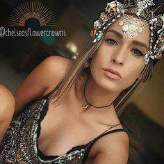 @chelseasflowercrowns are magical✨ #oneofakind #embellished #crown #shells #beautiful #unique #special #jewelry #instadaily #headpiece #art #magical #mystical #instacool #bestoftheday #stylist #fashion #instalove #instaartist #boho #fairy #chic #BARBAR #barbarhair #barbarhairtools