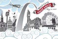 Meet Us In St Louis Custom Save the Date Postcards