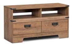 Get back to the basics with this Brackley TV stand. Diy Entertainment Center, Entertainment System, Entertainment Furniture, Wood Wood, Style Rustique, Diy Tv, Wood Laminate, Wood Construction, Engineered Wood