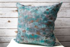 SALE! Hand Painted Pillow Cover, Throw Pillow Covers 20x20,Abstract Pillows,Decorative Pillows,Sofa Pillows,Home Decor Pillows,Bedroom Decor