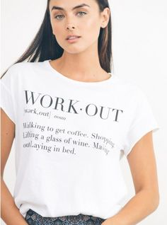 Work Out Tee by JF Clothing