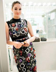 Shailene Woodley in her Christopher Kane dress before Met Gala