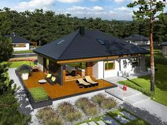 3 Single Story Modern House With Free Plan for 100 Square Meters Area