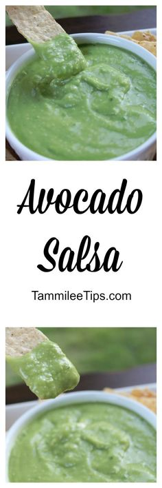 Super delicious and easy to make Avocado Salsa Recipe! Copy cat of El Pollo Loco recipe! This creamy appetizers recipe is so good!
