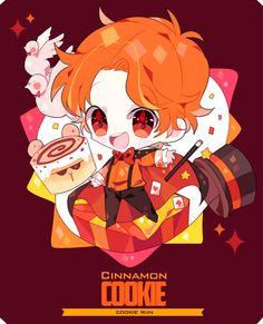 담아간 이미지 고유 주소 Kawaii Chibi, Cute Chibi, Anime Chibi, Cartoon Drawings, Cute Drawings, Miraculous, Chibi Food, Cinnamon Cookies, Cookie Run