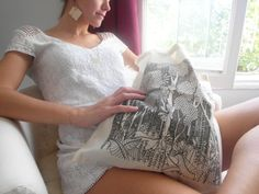 #totebag #etsy #cabas #canvas #bagcoton #bag #sac coton #trendy #fashion #parisian