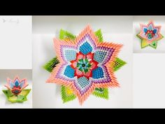 How to make 3d origami - Vase - YouTube