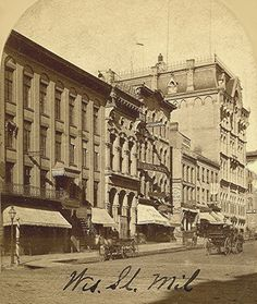 Wisconsin Ave. and Northwestern Mutual, 1870s. Image courtesy of Jeff Beutner.