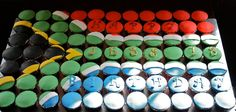 South African flag cupcake cake for birthday