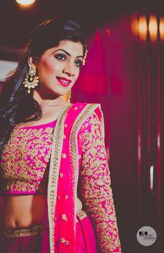 Beautiful fuschia lehenga | Find more wedding outfit inspiration on www.wedmegood.com | #indianbride #wedmegood