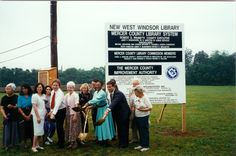 Groundbreaking for the new West Windsor Branch, 1995. #TBT #mclsnj