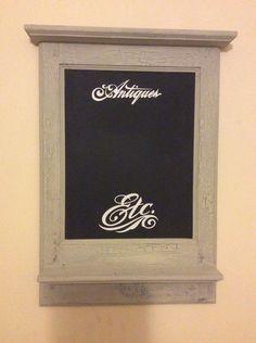 Decorative chalkboard/blackboard with shelf by BradburystudiosGB on Etsy https://www.etsy.com/uk/listing/503573524/decorative-chalkboardblackboard-with