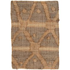 With its beautifully distressed look and and rustic crisscross pattern in subtle shades of blue, green, and earthy brown, this woven jute rug is a standout for the covered porch or cozy family space.