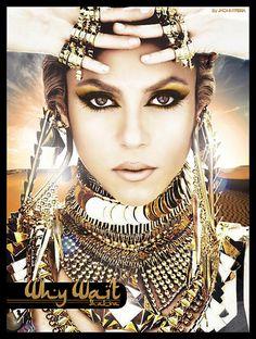 Shakira~ makeup is gorgeous! Foto Picture, Glitter Make Up, Beautiful People, Beautiful Women, Beautiful Gorgeous, Ethno Style, Tribal Style, Tribal Belly Dance, Color Plata