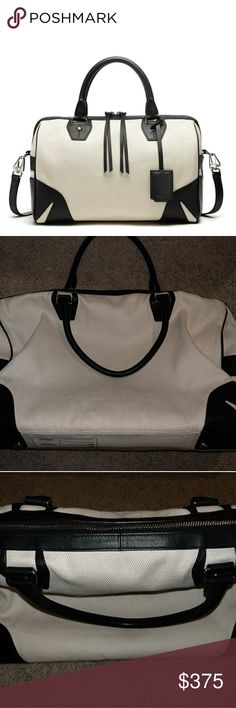 rag and bone black and white over night bag NWOT overnight bag from rag and bone rag & bone Bags Travel Bags