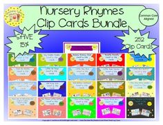 Nursery Rhymes Clip Cards Bundle