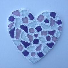 DIY mozaïeken met Foam Clay hart