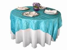 Wholesale Pintuck Tablecloths, Sashes, Napkins Overlays & Fabric Table Covers: TableClothsFactory.com
