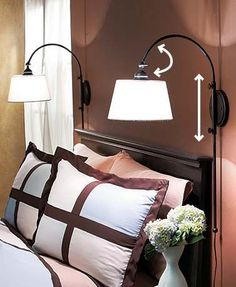 set the adjustable wall lamp at the height you need to fit your space or reduce