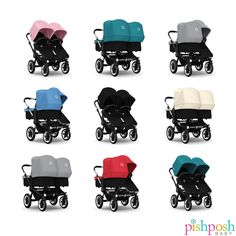 Whichever mode you'll be rocking, the Bugaboo Donkey Duo or Twin strollers are astoundingly easy to push across any terrain life throws at you. Available in 7 colors, 2 base finishes, and loads of accessories for every season. Priced starting at $1,719. Foncused at the choices? We're here to help! Give us a ring, we're super nice.   http://www.pishposhbaby.com/bugaboo-donkey-stroller.html