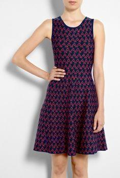 Abstract Rayon Jacquard Knit Dress by Issa