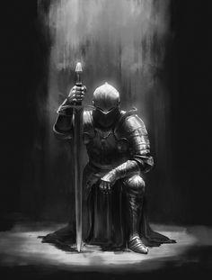 Commission - Knight by on DeviantArt Commission - Knight by on DeviantArt<br> Fantasy Armor, Dark Fantasy Art, Dark Art, Medieval Knight, Medieval Fantasy, Fantasy Character Design, Character Art, Templar Knight Tattoo, Tattoo Tod