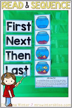 Sequence of events activities perfect for kindergarten, 1st, and 2nd grade students learning to order events. These printable worksheets have sequencing pictures to sequence after reading a short passage. Children will also answer comprehension questions in response to what they have read. #sequencingactivities   #sequenceofevents #teachingreading